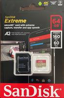 Карта памяти MicroSD SanDisk Extreme 64GB