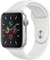 Apple Watch 5 40mm Silver Aluminum Case White Sport Band