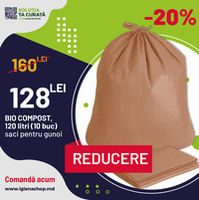 SACI pentru GUNOI, BIO Compost 120litri, 10 buc