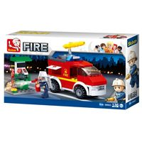 Sluban Constructor Small Fire Truck + Oil Station