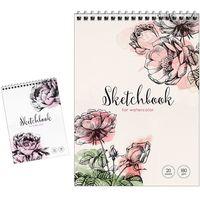 ArtSpace Блокнот для акварел ARTSPACE Цветы А5, 20 листов 180г/м2