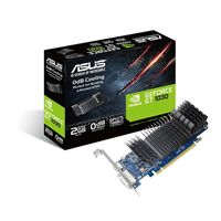 """VGA ASUS GT1030 2GB GDDR5 Low Profile //  GeForce® GT 1030, 2GB GDDR5, 64 bit, Engine 1266/1506MHz (OC Mode), Memory 6008 MHz, Active Cooling, Display Port  *1, HDMI *1, Low profile bracket included"""
