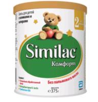 Similac Comfort 2 молочная смесь, 0-6мес. 375г