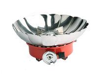 Портативная походная газовая плита с защитой от ветра (LOTUS)