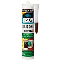 Силикон neutral темно-корич 280мл Bison 8.43