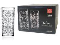 Набор стаканов для напитков Tattoo 6шт, 370ml