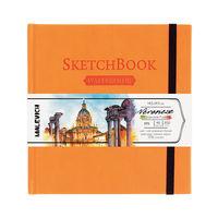 Sketchbook pentru acuarelă Malevich,Waterfall, oranj  200 gm 14,5х14,5 cm, 40 foi