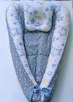 Гнездышко для новорожденных Grey stars