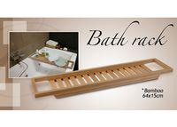 Полочка - перекладина для ванной 64X15cm, бамбук