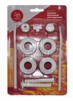 "Комплект 1""х1/2"" для монтажа радиатора биметалл, алюмин.(с кронштейнами, 11 предметов) SK (RU)"