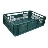 купить Пластиковый ящик A107, 600x400x170 мм без перфорации, зеленый в Кишинёве