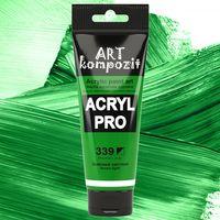 Краска акриловая Art Kompozit, (339) Зеленый светлый, 75 мл