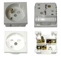 EPS-FR-45 Electrical Power Socket French Type, 45mm*45mm, Legrand Mosaic