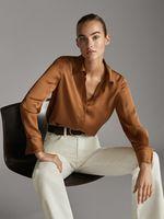 Блуза Massimo Dutti Горчичный 5110/690/303