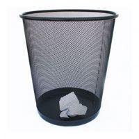 Корзина для мусора, металлическая,сетчатая круглая, черная
