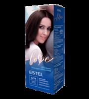 Vopsea p/u păr, ESTEL Love, 100 ml., 6/74 - Castaniu închis