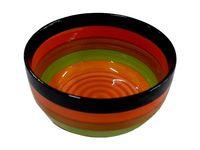 Salatiera 12.5cm dungi multicolore, din ceramica