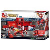 SLUBAN CONSTRUCTOR F1 RACING CAR STATION, красный