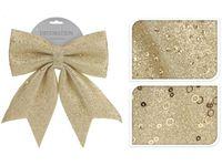Бант декоративный 28X34сm, золотой с блетсками