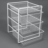 cumpără Set compus din 2 rame în 7 rânduri cu 4 coșuri metalice, 740x535x450 mm, alb în Chișinău