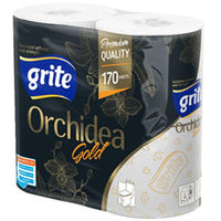 GRITE - Туалетная бумага ORCHIDEA GOLD  3 слоя 4 рулона 21,25м