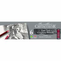 Set de creioane grafite negre, 6 articole, Cleos Fine Art Cretacolor