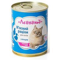 Леопольд Мясной Рацион Для Котов С Птицей 360 Гр