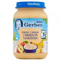 Gerber пюре яблоко и банан с творогом 6+ мес., 190 г