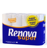 "RENOVA Туалетная бумага ""Super"" белая (12) 8000260"