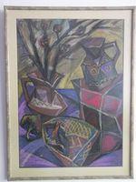 Натюрморт с кувшинами, 70x50 см., пастель, бумага