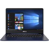 """NB ASUS 14.0"""" Zenbook UX430UA Blue (Core i5-8250U 8Gb 256Gb Win 10) 14.0"""" Full HD (1920x1080) Non-glare, Intel Core i5-8250U (4x Core, 1.6GHz - 3.4GHz, 6Mb), 8Gb (OnBoard) PC3-14900, 256Gb M.2, Intel HD Graphics, micro HDMI, 802.11ac, Bluetooth, 1x USB 3.1 Type C, 1x USB 3.0, 1x USB 2.0, Card Reader, HD Webcam, Windows 10 Home RU, 3-cell 50 WHrs Polymer Battery, Illuminated Keyboard, 1.3kg, Blue"""