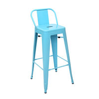 купить Металлический стул для бара 90х490х1260 мм, синее в Кишинёве
