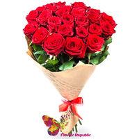 cumpără Buchet de 25 Trandafiri rosii ECUADOR 60-70CM în Chișinău