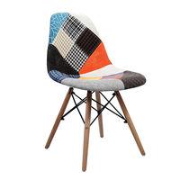 купить Мягкий стул с деревянными ножками, 530x480x840 мм, цветной в Кишинёве