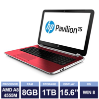 Ноутбук HP Pavilion 15-n276sa Red (133964) (15,6"