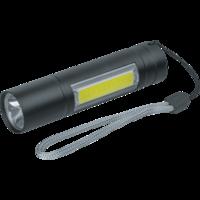 Аккумуляторный фонарь-брелок NPT-KC06 (1W) + 1СOB LED (3W)