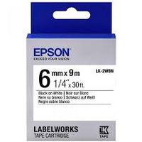 C53S652003 Tape Epson LK2WBN Std Blk/Wht 6/9