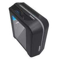 Кейс MATX GAMEMAX Centauri, без блока питания, 1x120мм, синий светодиод, USB3.0, боковое окно, черный / серый