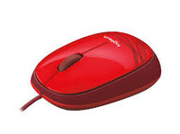 купить Logitech M105 Optical Mouse, Corded, ambidextrous comfort, Red, USB в Кишинёве