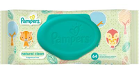 Pampers влажные салфетки Natural Clean, 64шт