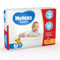 Huggies подгузники Classic Mega 3, 4-9кг. 78шт