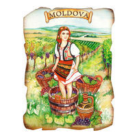 cumpără Magnet de frigider (lemn) - Moldova în Chișinău