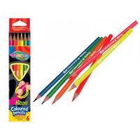 Цветные карандаши 6 шт. Neon Colorino