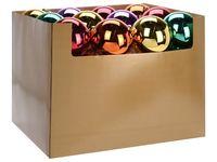 Шар елочный 120mm глянцевый, разноцветный