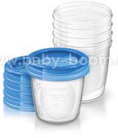 Avent SCF619/05 Контейнеры для хранения грудного молока с крышками (180 мл.) 5 шт.