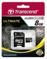 Карта памяти MicroSDHC Transcend 8GB Class10+adapter