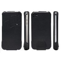 SGP Leather Pouch Valencia Swarovski for iPhone 4/4S Black