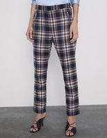 Pantaloni ZARA Albastru inchis in carouri 4387/221/401