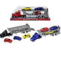 Пластмассовый грузовик с прицепом-трейлером Dickie 374600