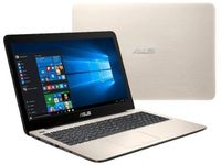 """NB ASUS 15.6"""" X556UR Gold (Core i5-7200U 8Gb 1Tb) 15.6"""" Full HD (1920x1080) Non-glare, Intel Core i5-7200U (2x Core, 2.5GHz - 3.1GHz, 3Mb), 8Gb (Onboard) PC4-17000, 1Tb 5400rpm, GeForce 930MX 2Gb, HDMI, DVD-RW, Gbit Ethernet, 802.11ac, Bluetooth, 1x USB 3.1 Type C, 1x USB 3.0, 1x USB 2.0, Card Reader, Webcam, DOS, 2-cell 38 WHrs Polymer Battery, 2.3kg, Gold"""
